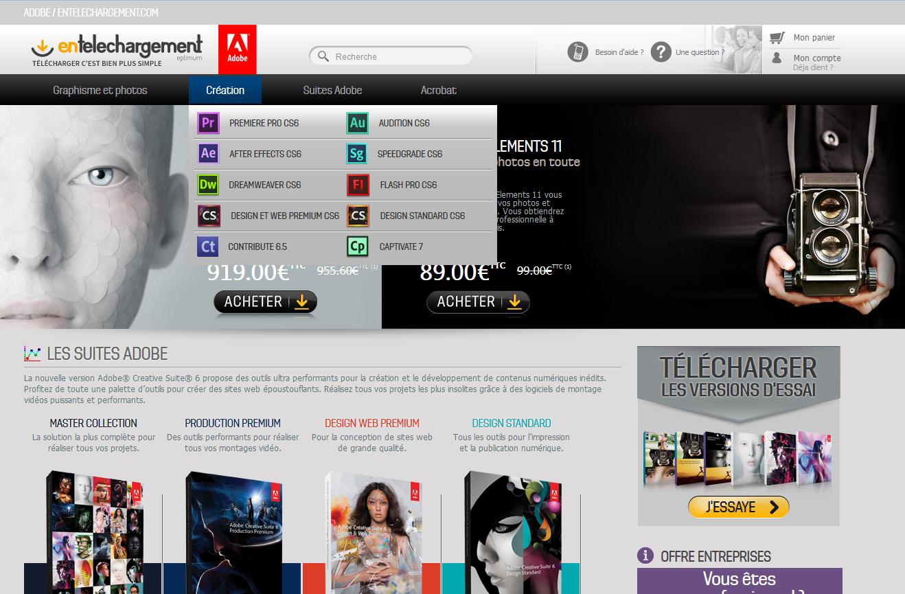 nouvelle boutique Adobe