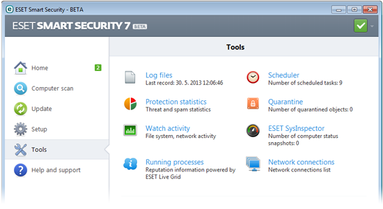 Eset Smart Security bêta 7