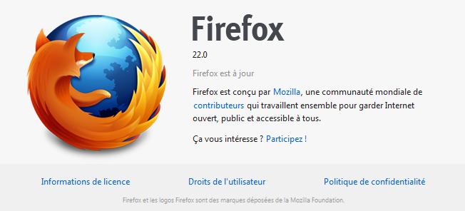 Mozilla Firefox 22